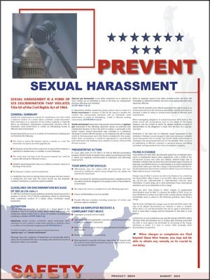 Sexual Harassment Safety Poster