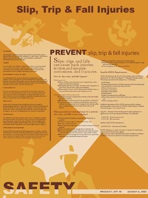 Slip, Trip, and Fall Injuries Safety Poster