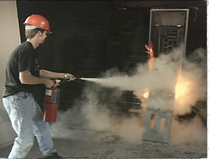 fire extinguisher video dvd using